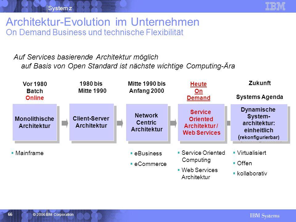 Architektur-Evolution im Unternehmen On Demand Business und technische Flexibilität