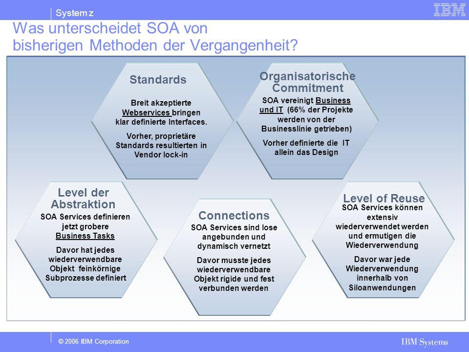 Was unterscheidet SOA von bisherigen Methoden der Vergangenheit