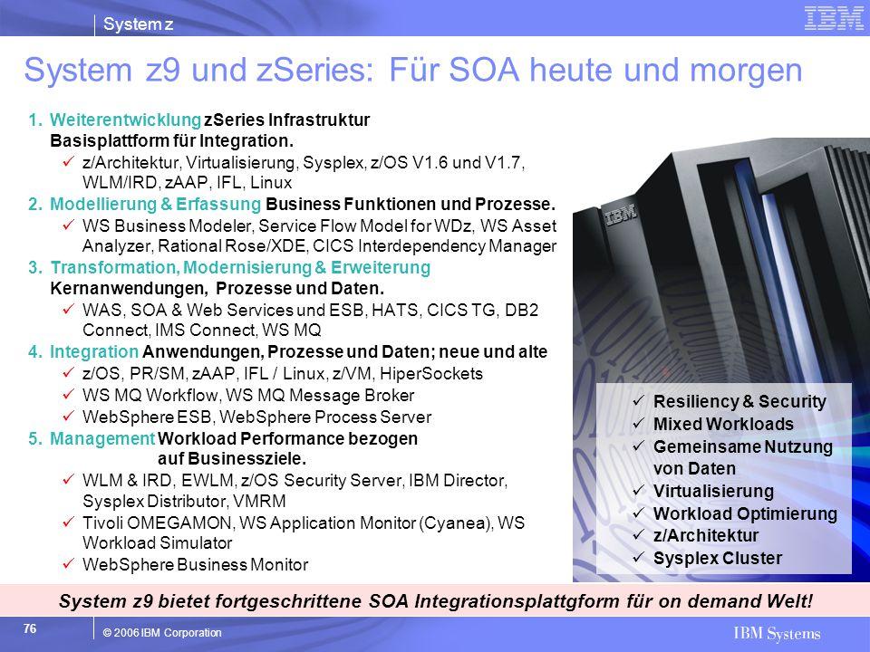 System z9 und zSeries: Für SOA heute und morgen