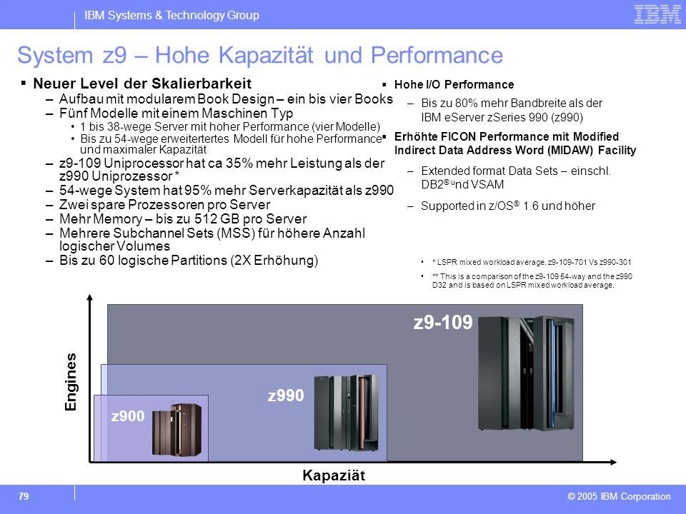 System z9 – Hohe Kapazität und Performance