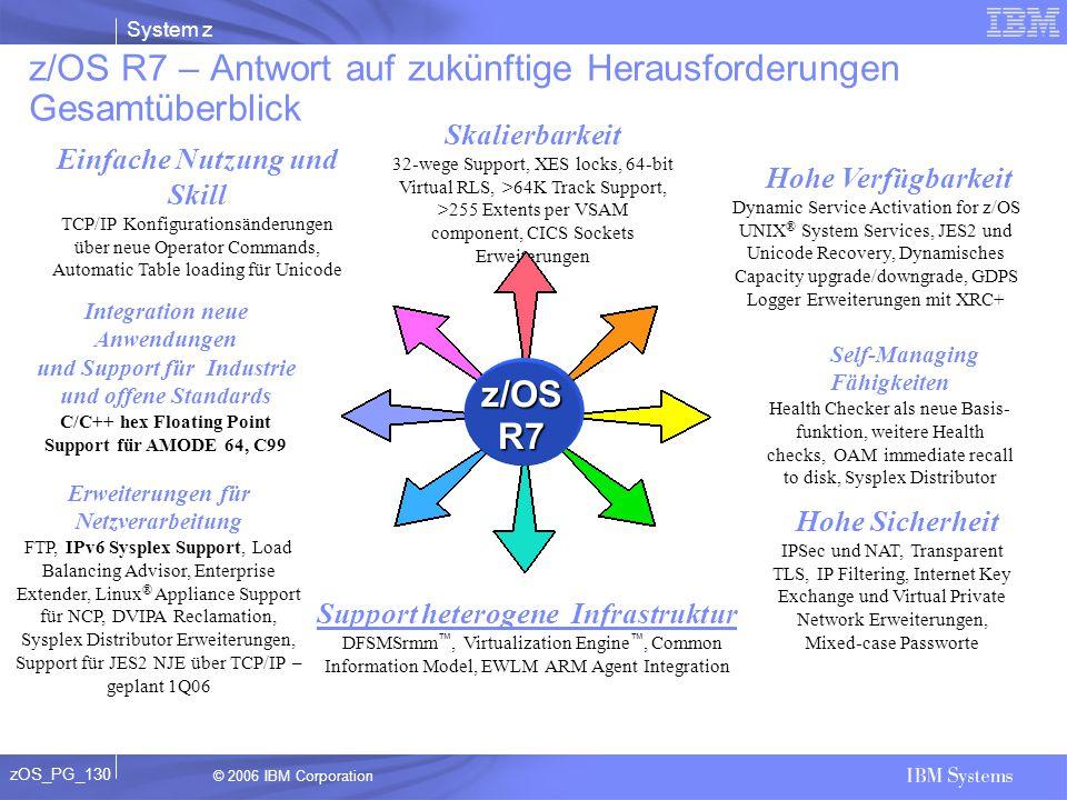 z/OS R7 – Antwort auf zukünftige Herausforderungen Gesamtüberblick