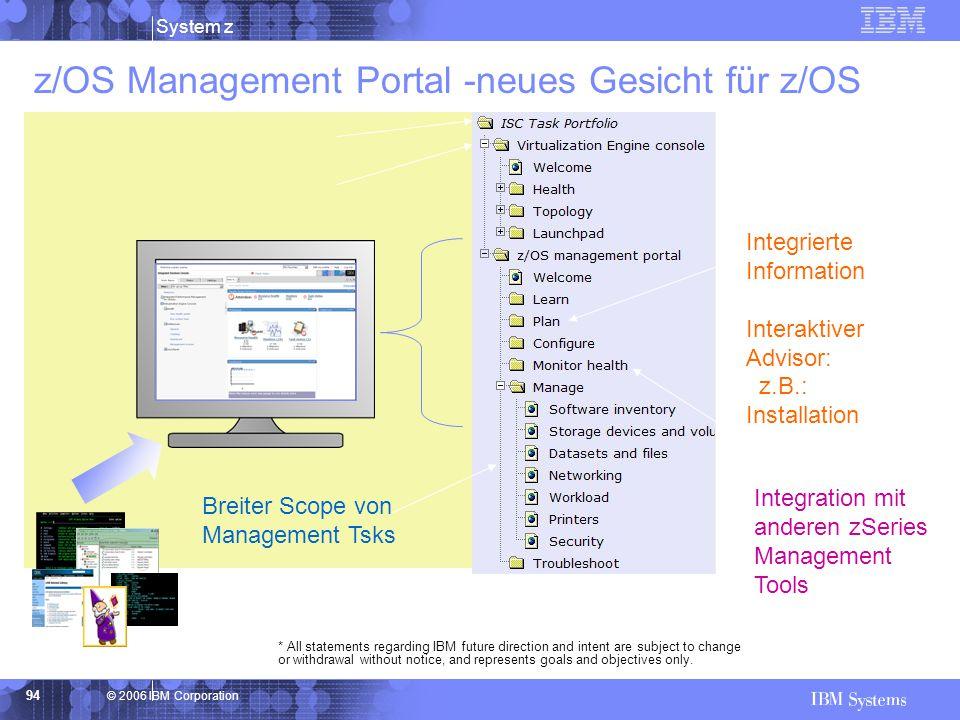 z/OS Management Portal -neues Gesicht für z/OS