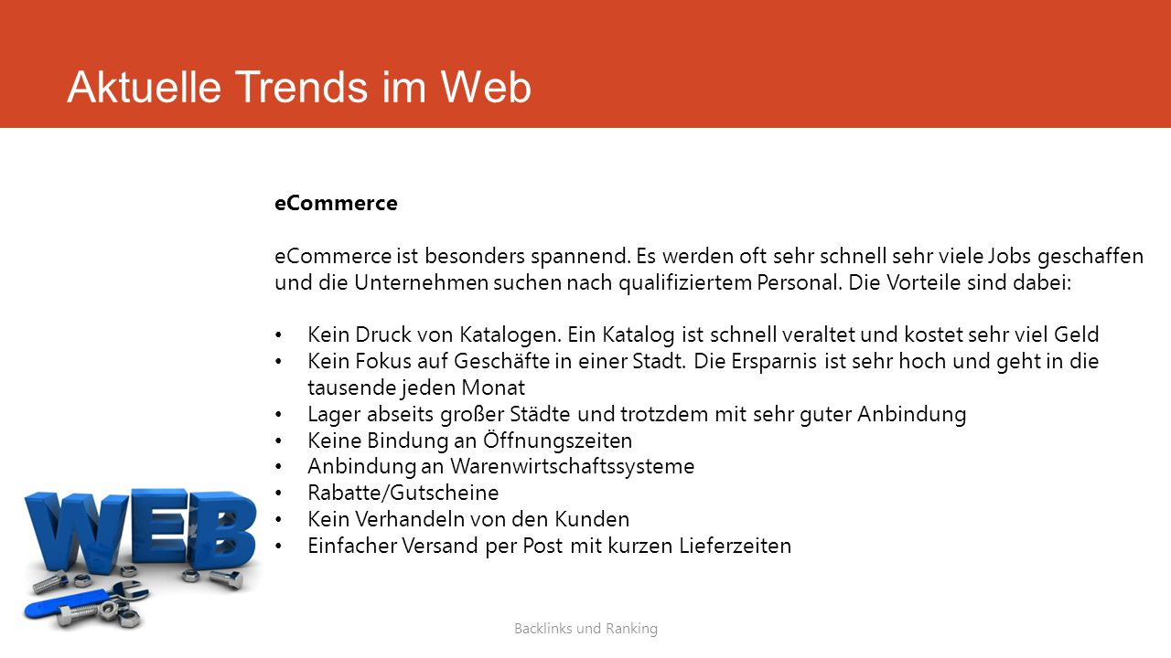 Aktuelle Trends im Web eCommerce