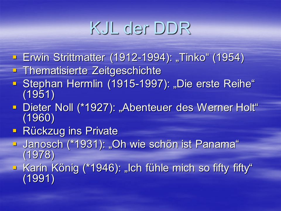 """KJL der DDR Erwin Strittmatter (1912-1994): """"Tinko (1954)"""