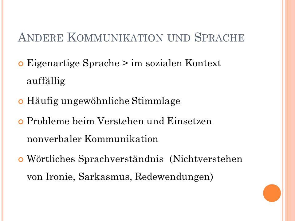 Andere Kommunikation und Sprache
