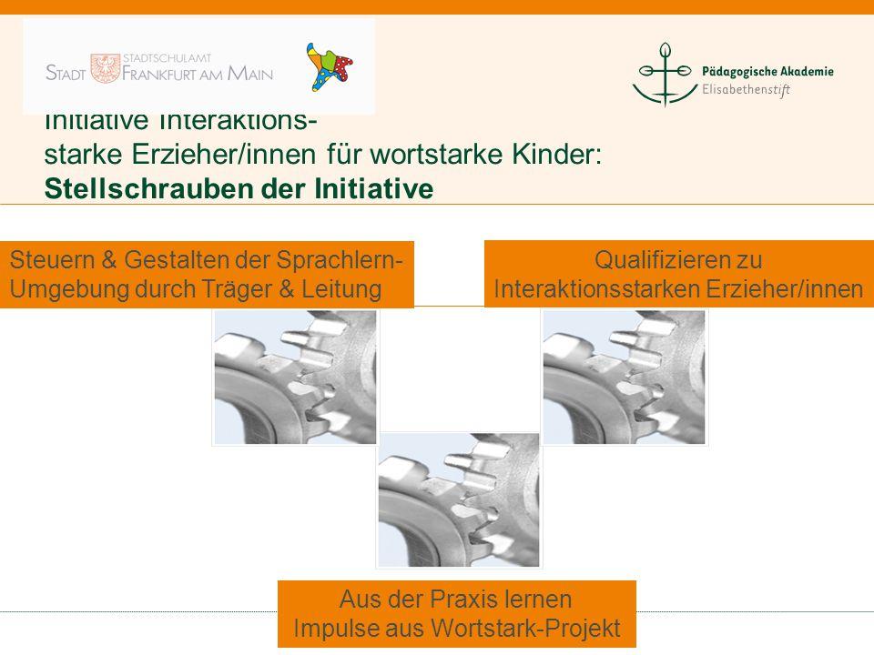 Initiative Interaktions- starke Erzieher/innen für wortstarke Kinder: Stellschrauben der Initiative