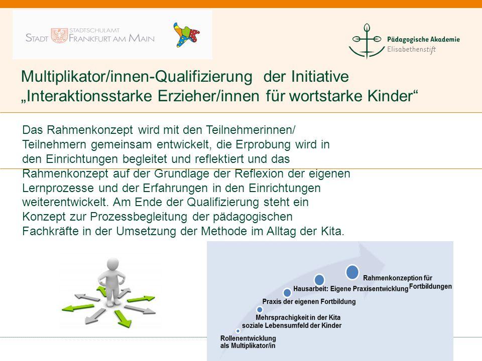 """Multiplikator/innen-Qualifizierung der Initiative """"Interaktionsstarke Erzieher/innen für wortstarke Kinder"""