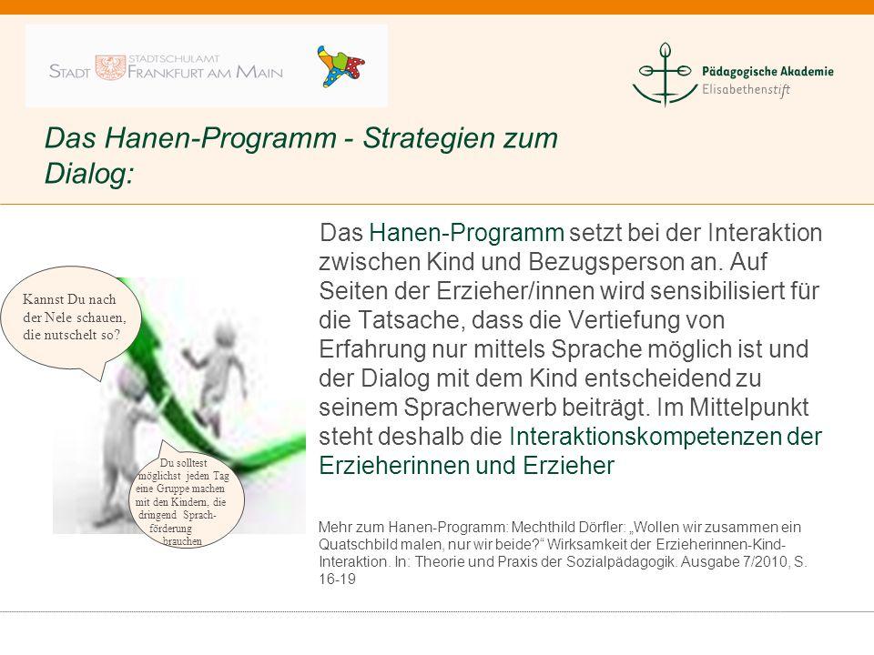 Das Hanen-Programm - Strategien zum Dialog:
