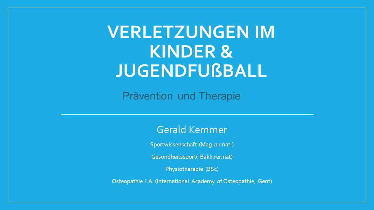Verletzungen im Kinder & JugendFußball