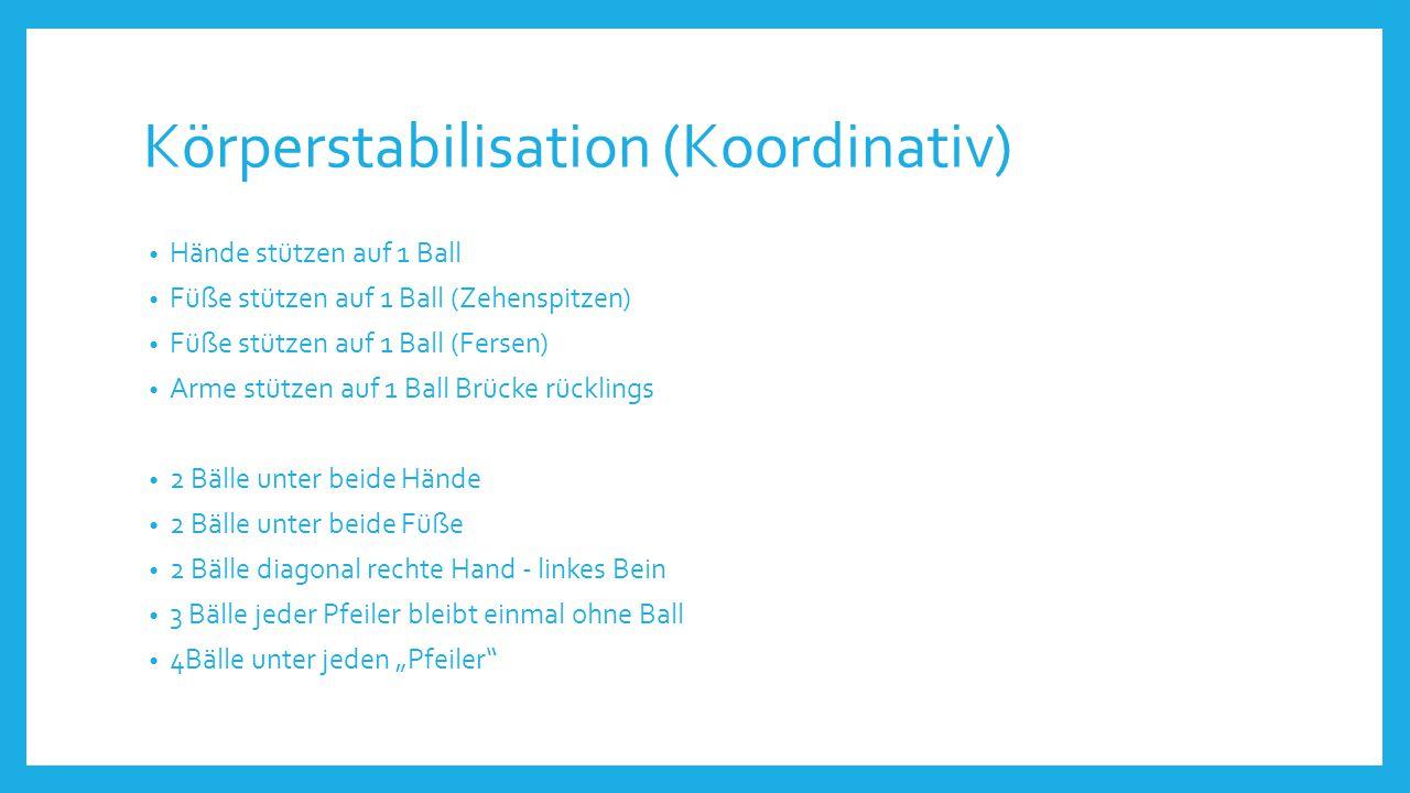 Körperstabilisation (Koordinativ)