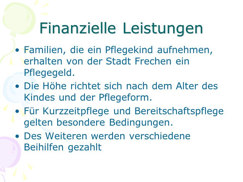 Finanzielle Leistungen