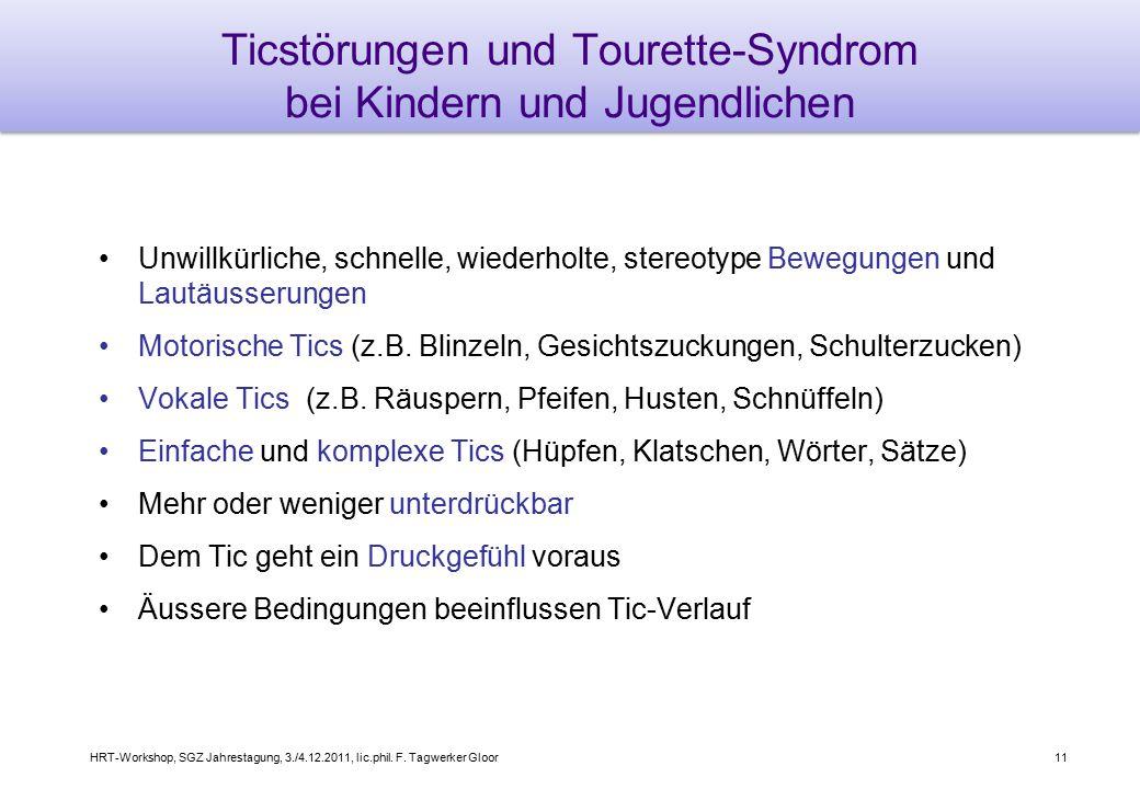 Ticstörungen und Tourette-Syndrom bei Kindern und Jugendlichen