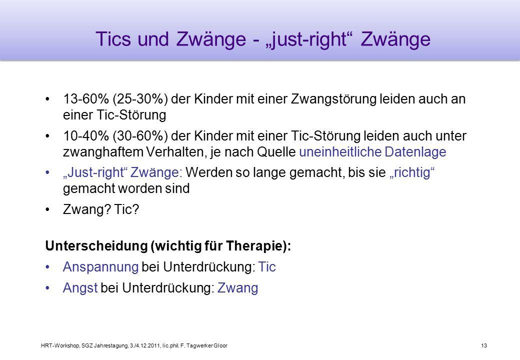 "Tics und Zwänge - ""just-right Zwänge"