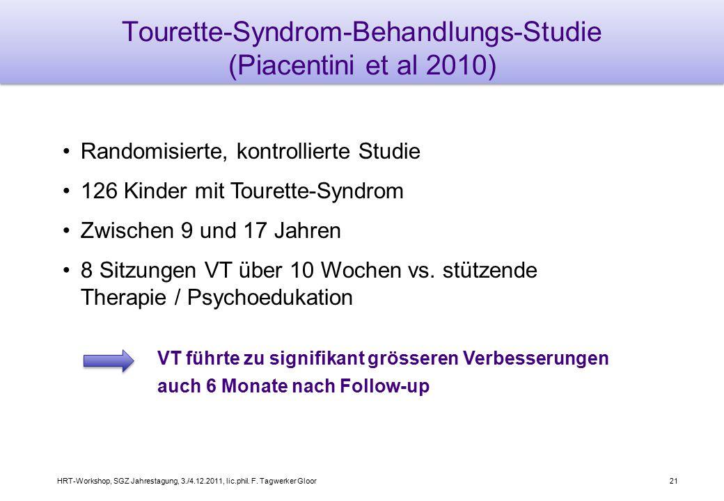 Tourette-Syndrom-Behandlungs-Studie (Piacentini et al 2010)