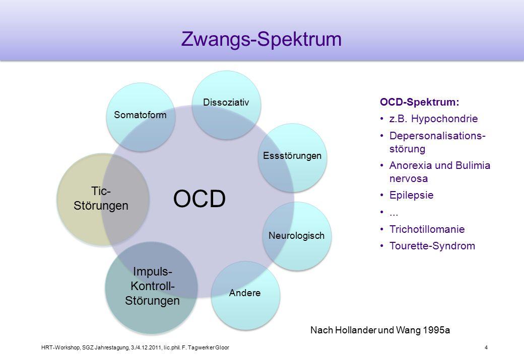 OCD Zwangs-Spektrum Tic- Störungen Impuls- Kontroll- Störungen