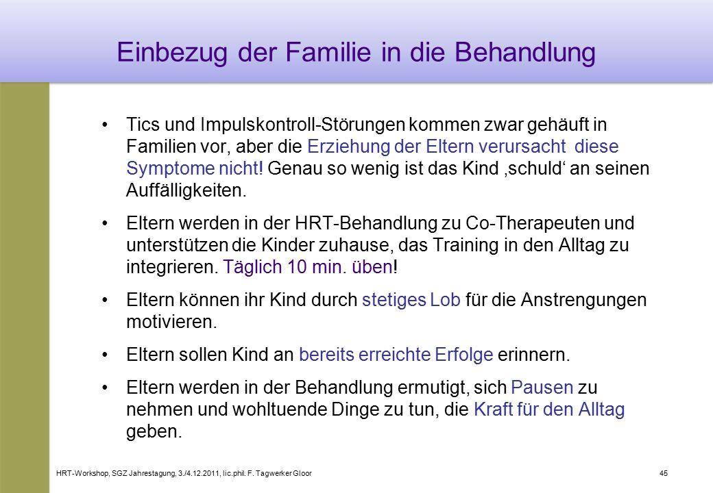 Einbezug der Familie in die Behandlung