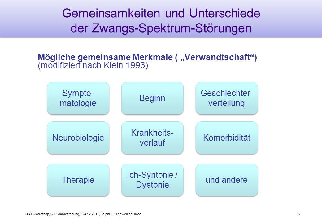 Gemeinsamkeiten und Unterschiede der Zwangs-Spektrum-Störungen