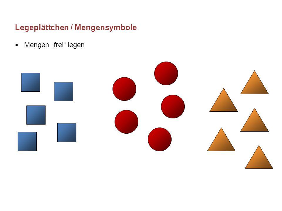 """Legeplättchen / Mengensymbole Mengen """"frei legen"""