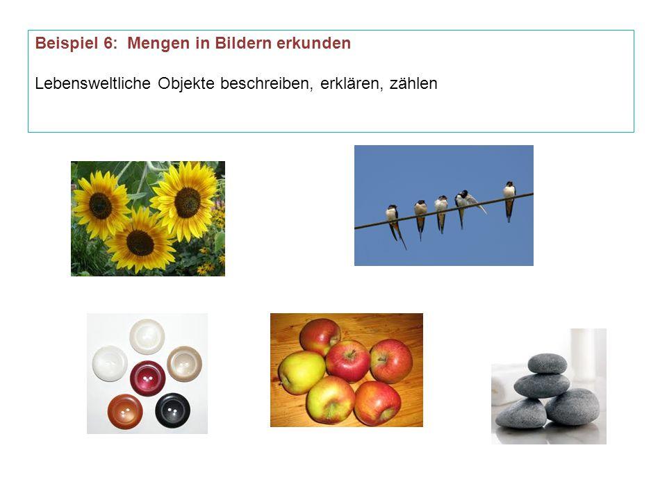 Beispiel 6: Mengen in Bildern erkunden