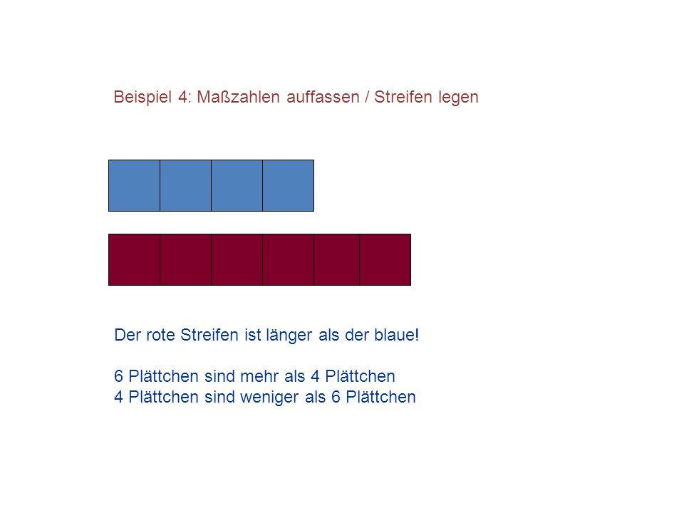 Beispiel 4: Maßzahlen auffassen / Streifen legen