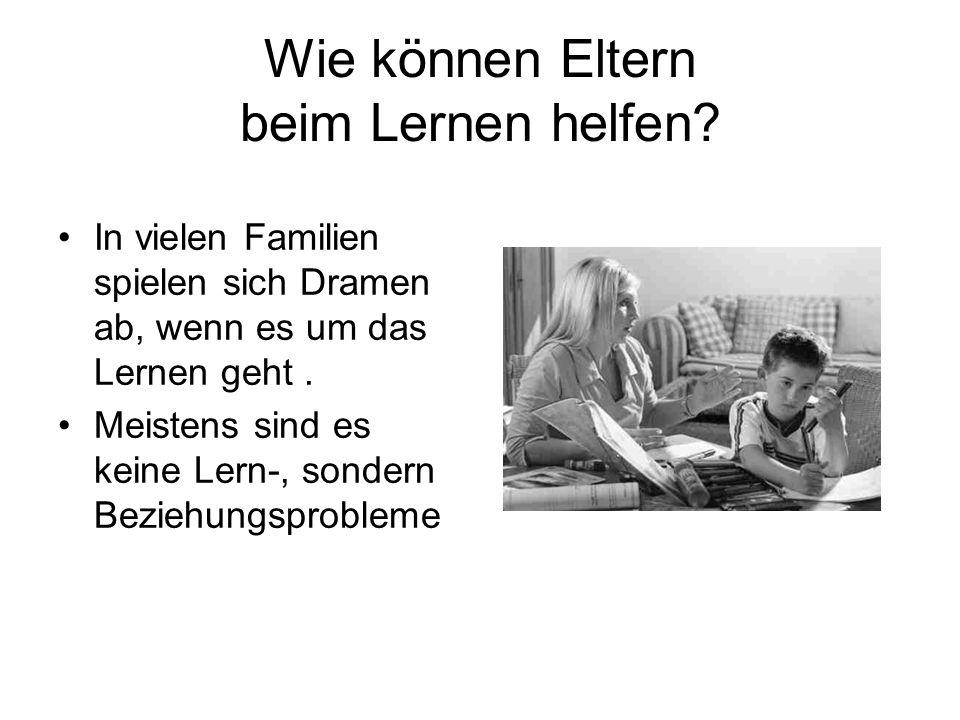 Wie können Eltern beim Lernen helfen