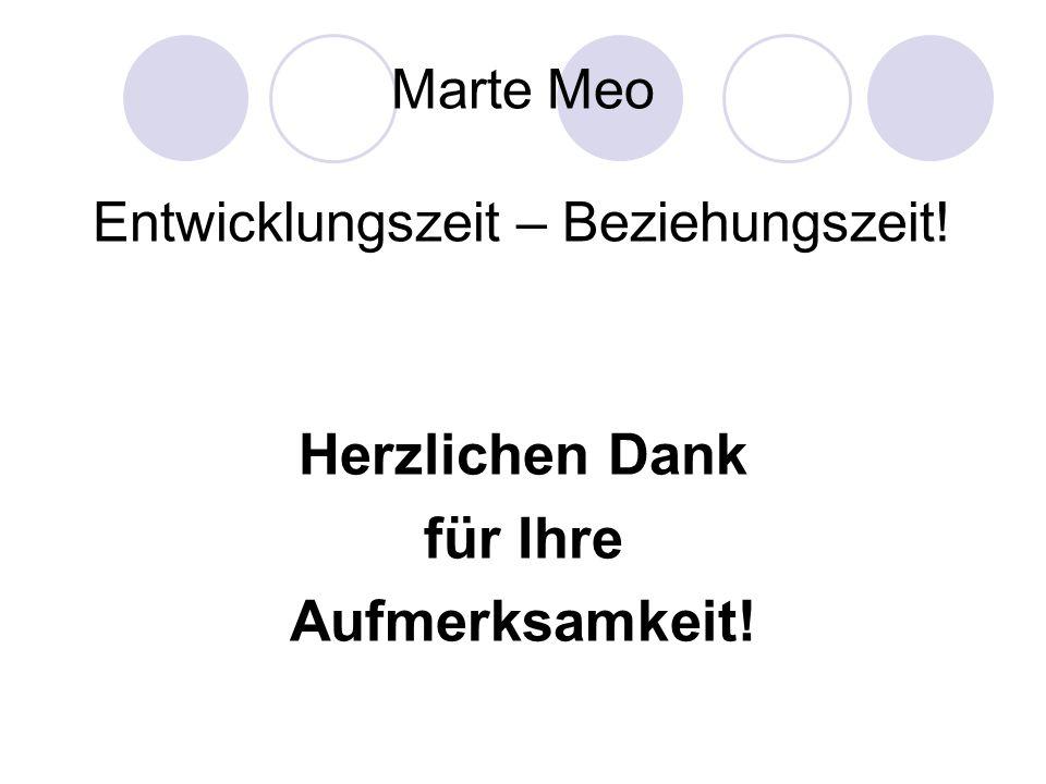 Marte Meo Entwicklungszeit – Beziehungszeit!