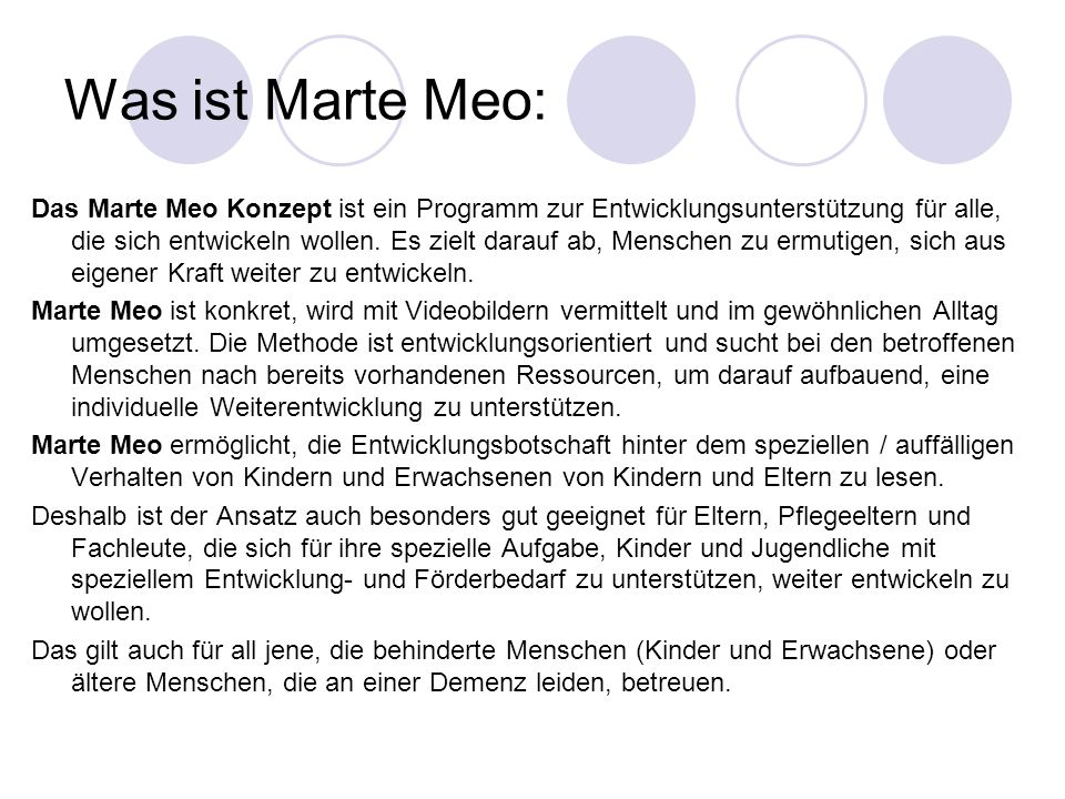 Was ist Marte Meo: