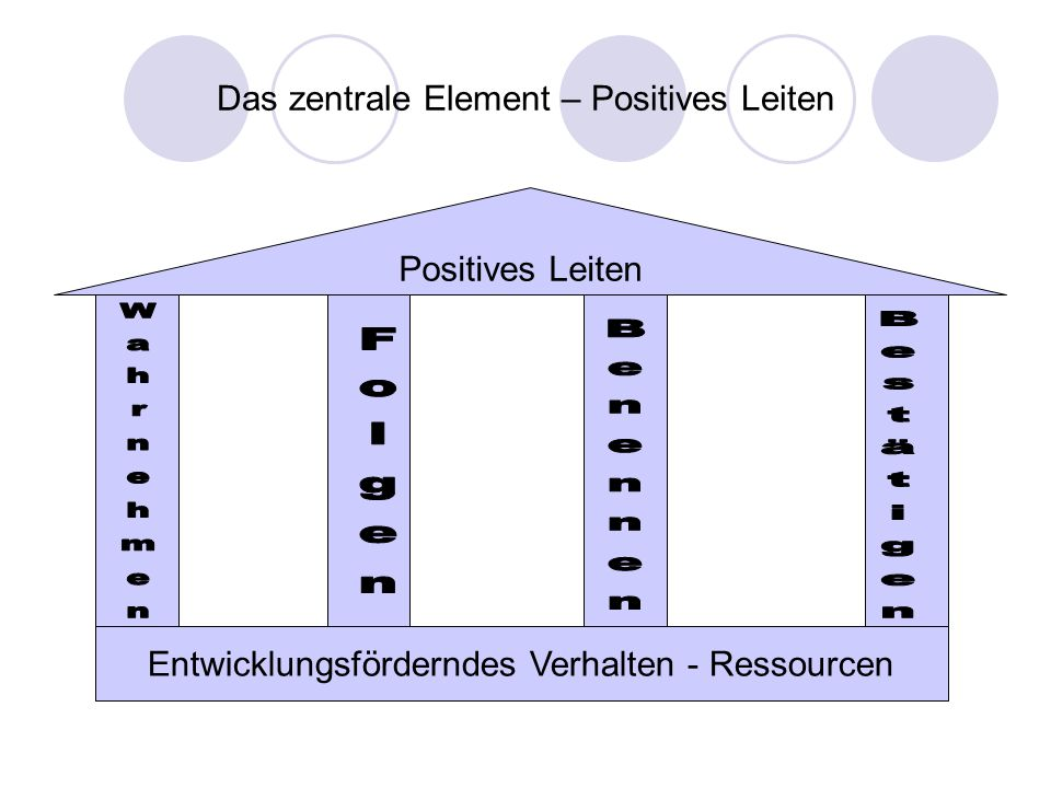 Das zentrale Element – Positives Leiten