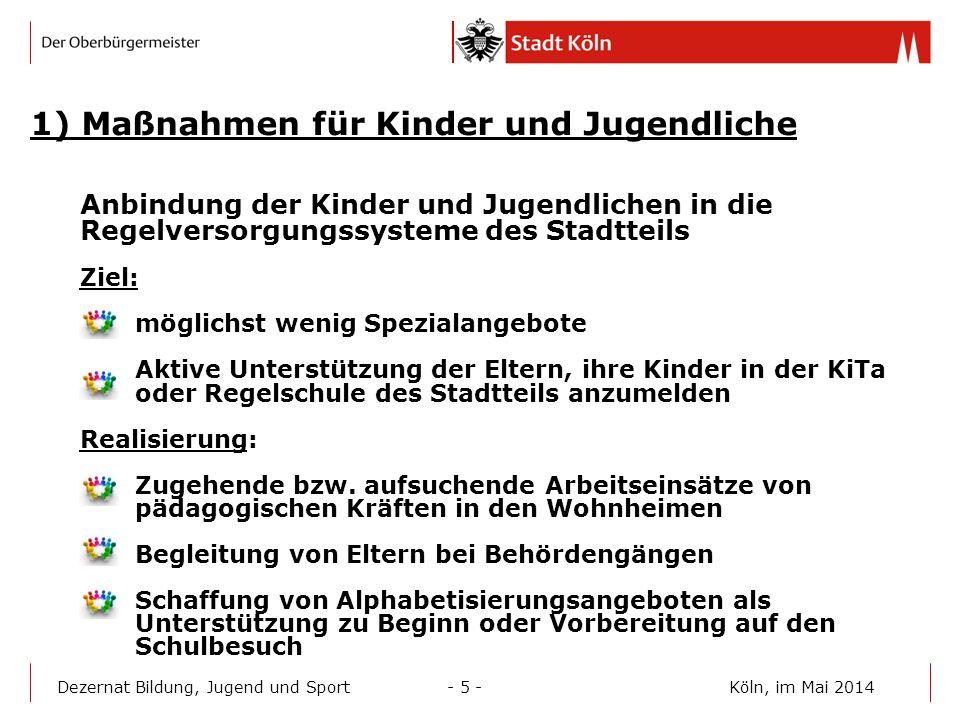 1) Maßnahmen für Kinder und Jugendliche