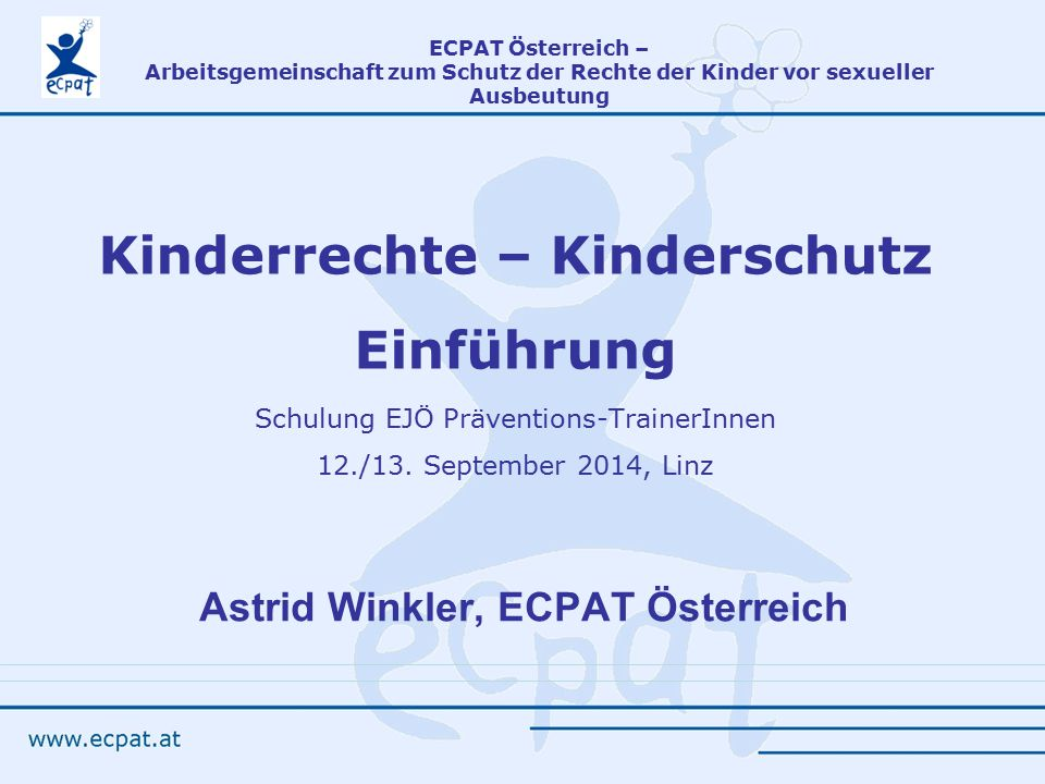 Astrid Winkler, ECPAT Österreich
