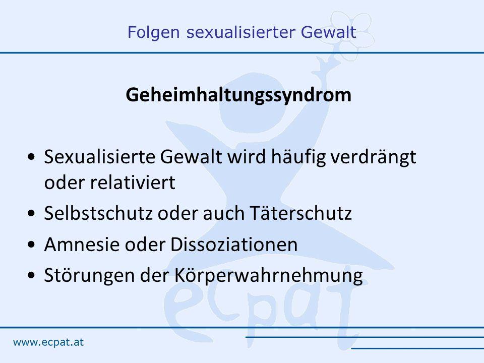 Folgen sexualisierter Gewalt