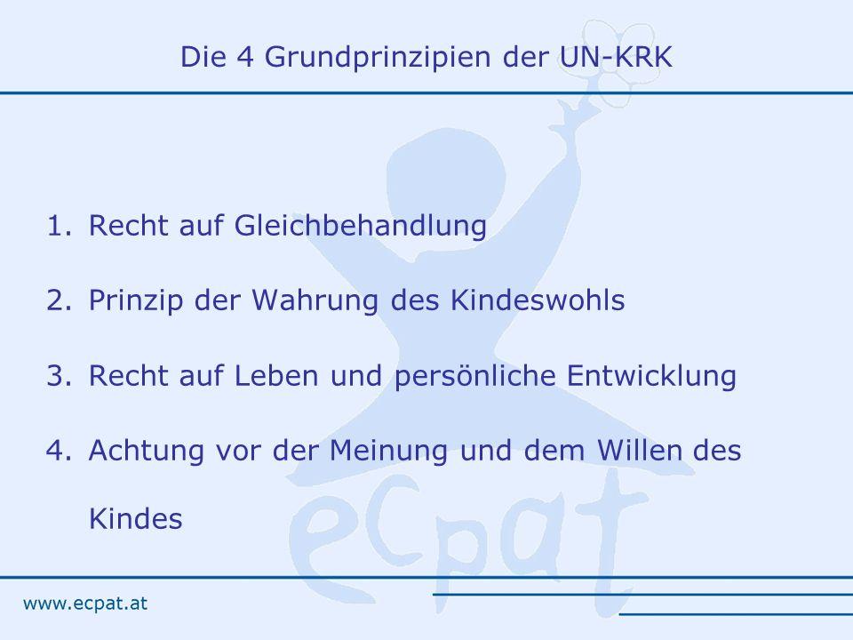 Die 4 Grundprinzipien der UN-KRK