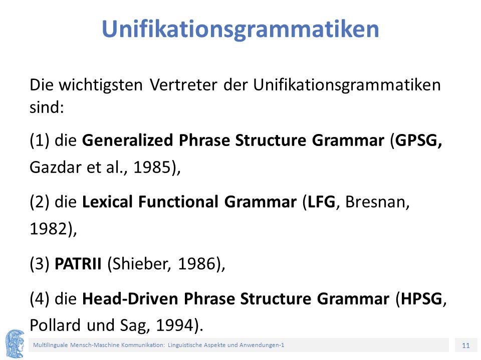 Unifikationsgrammatiken