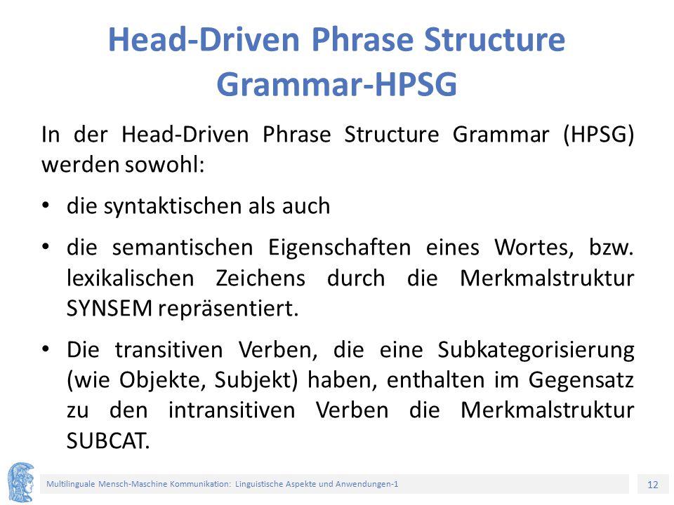Head-Driven Phrase Structure Grammar-HPSG