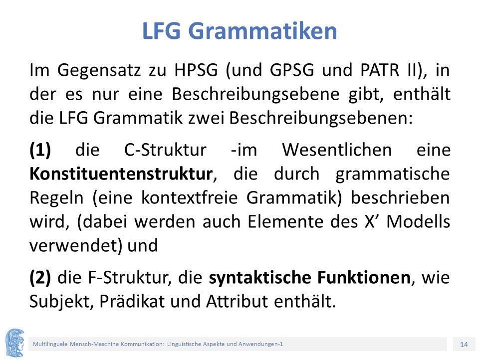 LFG Grammatiken