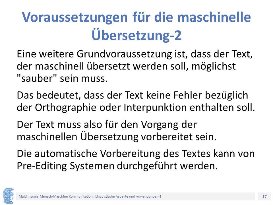 Voraussetzungen für die maschinelle Übersetzung-2