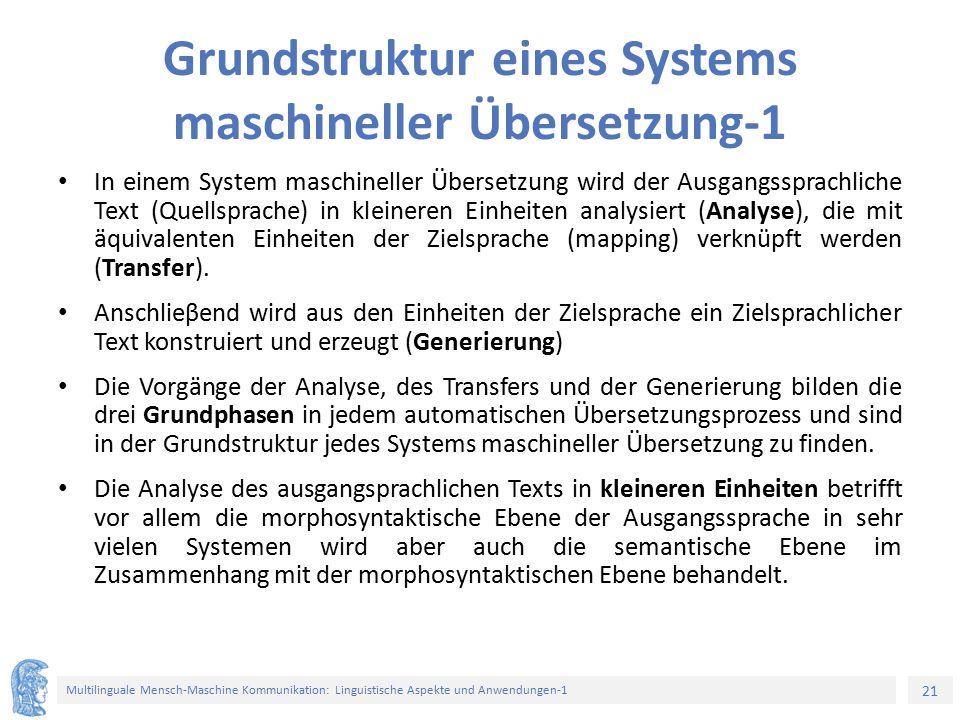 Grundstruktur eines Systems maschineller Übersetzung-1
