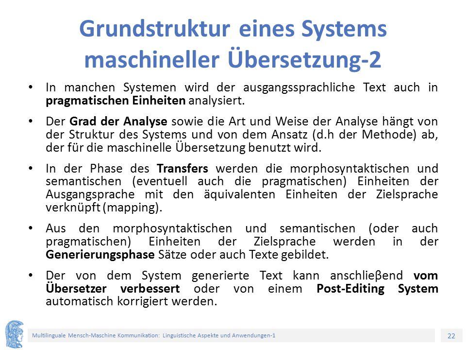 Grundstruktur eines Systems maschineller Übersetzung-2