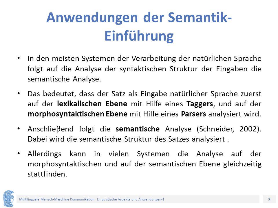 Anwendungen der Semantik-Einführung