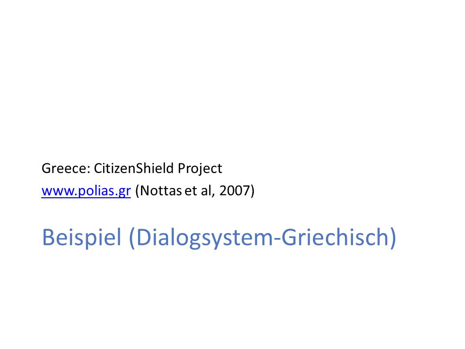 Beispiel (Dialogsystem-Griechisch)