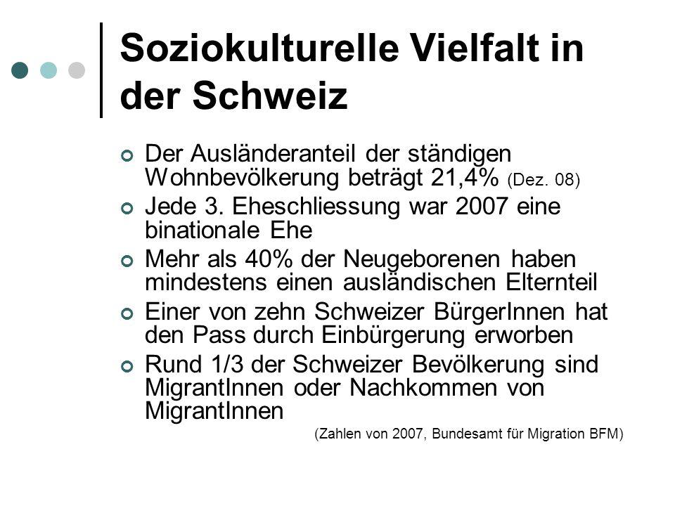 Soziokulturelle Vielfalt in der Schweiz