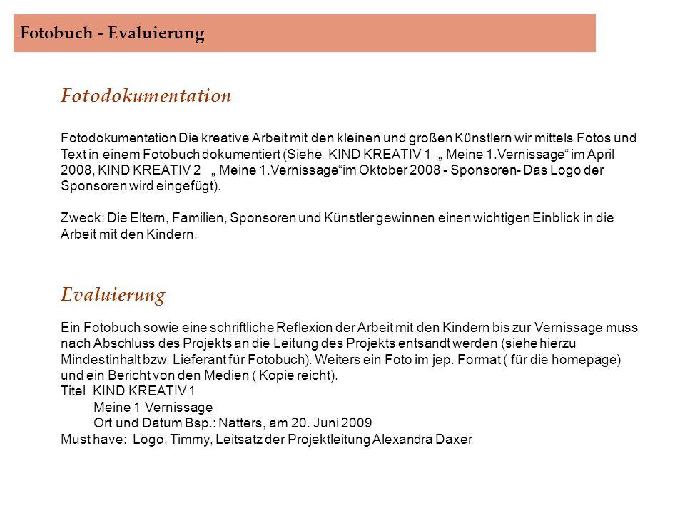 Fotobuch - Evaluierung