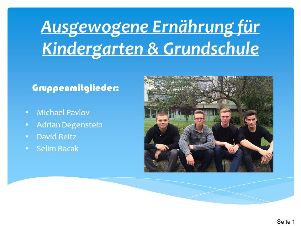 Ausgewogene Ernährung für Kindergarten & Grundschule