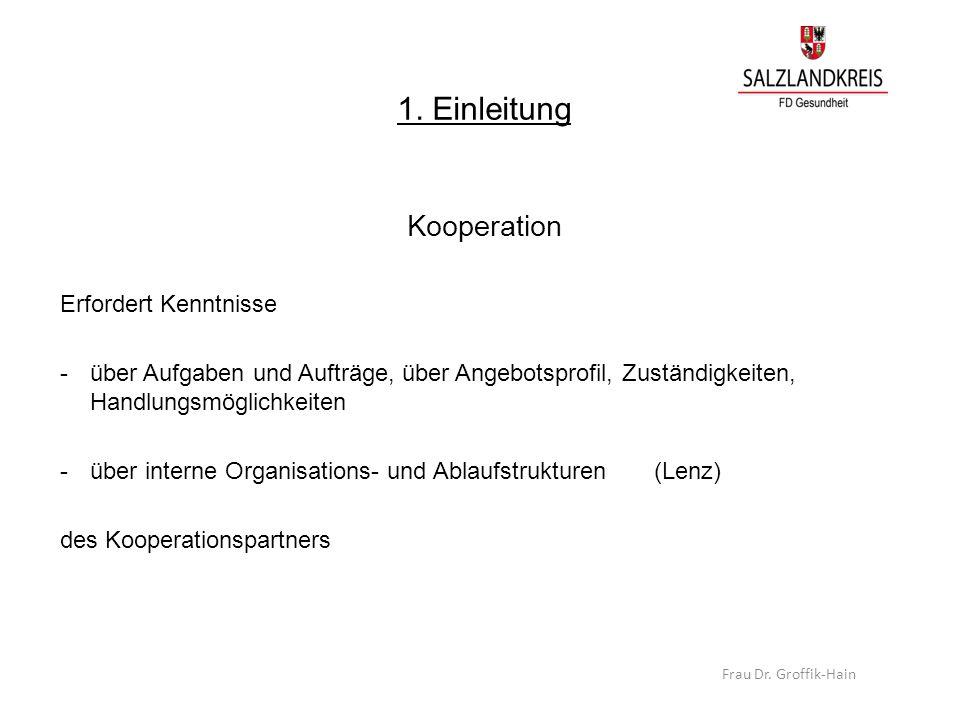 1. Einleitung Kooperation