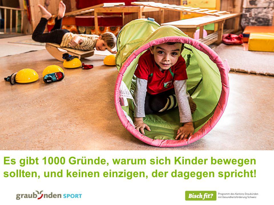 08.11.2014 Es gibt 1000 Gründe, warum sich Kinder bewegen sollten, und keinen einzigen, der dagegen spricht!
