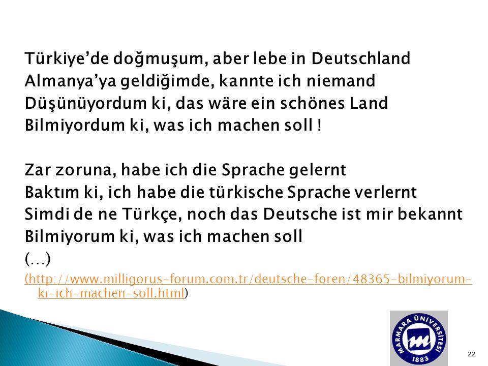 Türkiye'de doğmuşum, aber lebe in Deutschland