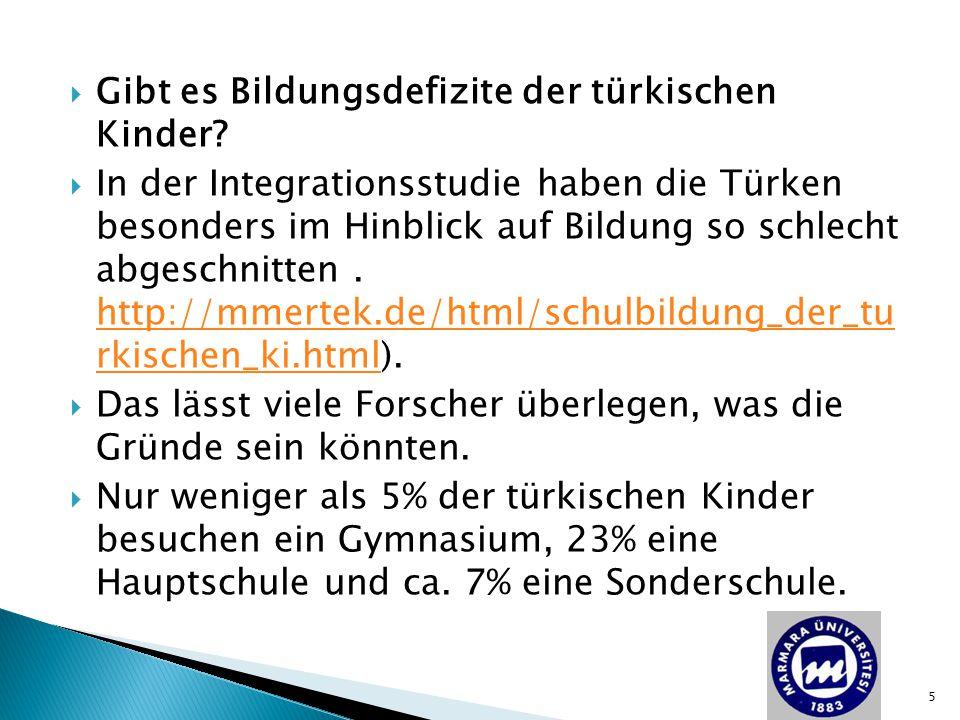 Gibt es Bildungsdefizite der türkischen Kinder