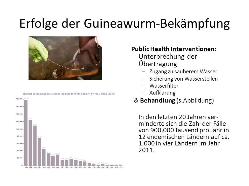 Erfolge der Guineawurm-Bekämpfung