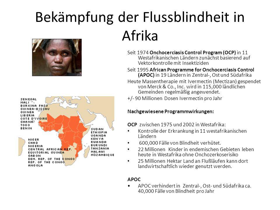 Bekämpfung der Flussblindheit in Afrika