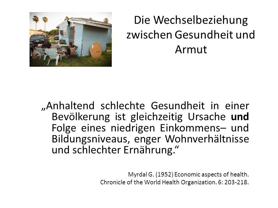 Die Wechselbeziehung zwischen Gesundheit und Armut